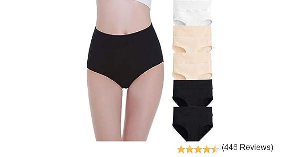 FALARY Bragas Mujer Cintura Alta Algodón 5 Piezas: Amazon.es: Ropa ...