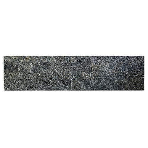 "Aspect Peel and Stick Stone Overlay Kitchen Backsplash - Frosted Quartz (5.9"" x 23.6"" x 1/8"" Panel - Approx. 1 sq ft) - Easy DIY Tile Backsplash"