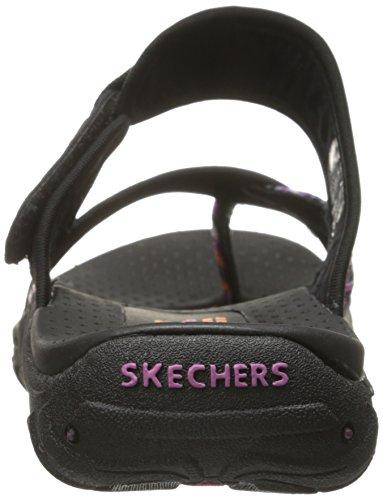 Sandalias y chanclas para mujer, color gris , marca SKECHERS, modelo Sandalias Y Chanclas Para Mujer SKECHERS REGGAE - RASTA Gris negro/multicolor