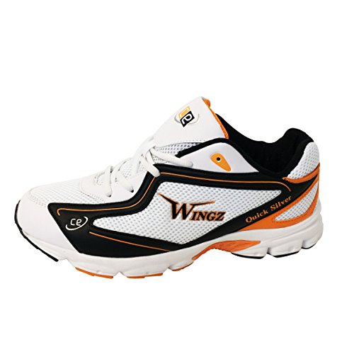 CE Cricket Equipment USA Squash Racqetball Shoes for Sports Played on Wooden Floor (US 11 - UK 10 - Euro 45, Orange - Black - White) by CE Cricket Equipment USA