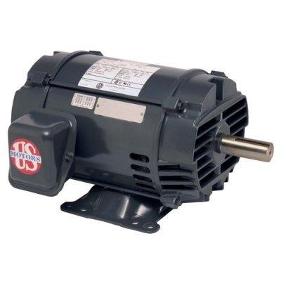 - US Motors (Nidec) D3P2AHZ, 3HP, 1725 RPM, 3PH, 208V/230V/460V, 56HZ Frame, Standard Flange, Foot Mount, Open, General Purpose Motor
