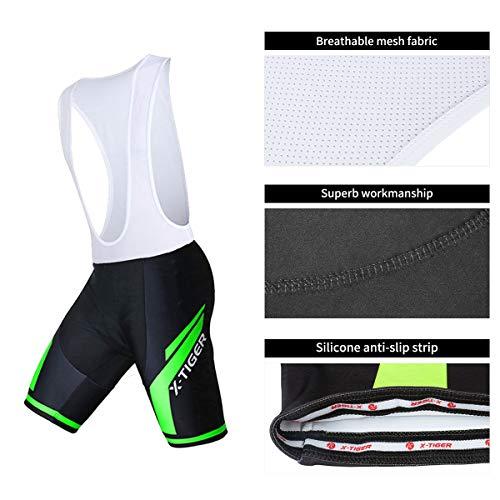 X-TIGER Men's Cycling Jersey Set,Biking Short Sleeve Set with 5D Gel Padded Shorts,Cycling Clothing Set for MTB Road Bike