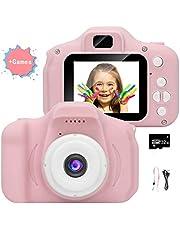2019 Hot 1080P HD Video/Photo Camera con Scheda SD da 32 GB/Schermo LCD da 2 pollici per Bambini