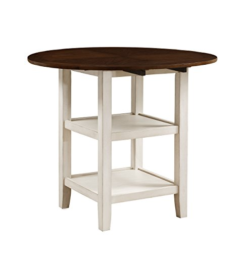 (Homelegance Kiwi Counter Height Drop Leaf Table, White )