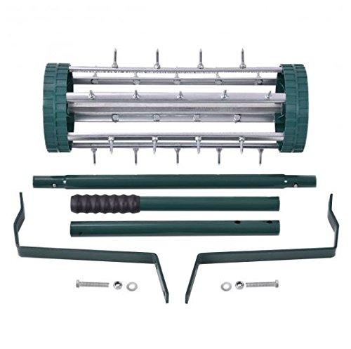 K&A Company Heavy Duty Rolling Garden Lawn Aerator Roller Grass Home Steel Handle