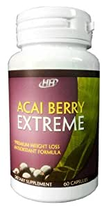 Acai Berry Extreme All-In-One Weight Loss, Colon Cleanse, Antioxidant, Appetite Suppressant, Metabolism Booster