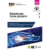 BitDefender Total Security Latest Version (Windows / Mac / Android / iOS) - 3 User, 1 Year (Email Delivery in 2 hours - No CD)