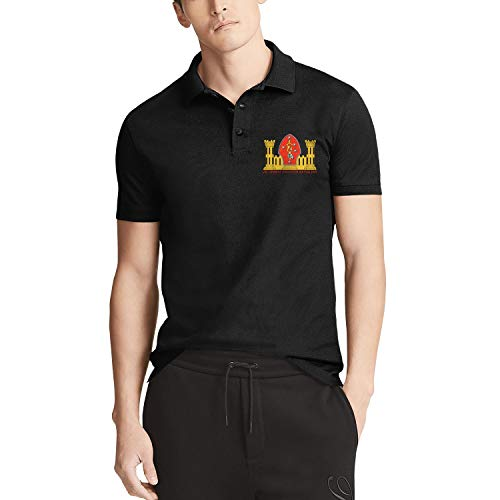 MollyWord Men's Regular-Fit Short Sleeve Tee Casual Quick-Dry Golf Polo Shirt-2nd Combat Engineer ()