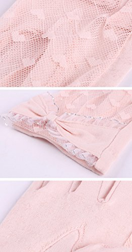 Women's Lace Floral Elegant Gloves for Driving/Party/Evening With''Love'' pattern by LAI MENG FIVE CATS (Image #6)