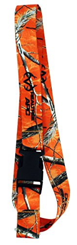 RealTree Camo Pattern Blaze Orange Hunting Keychain Breakaway Lanyard