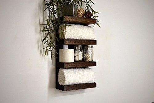 Handmade Bathroom Hotel Style Towel Rack 4 Tier Storage