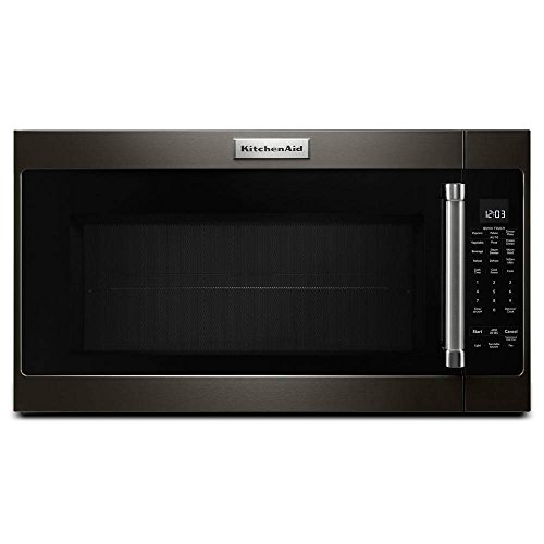 KitchenAid 30 in. 2.0 cu. ft. Over the Range Microwave in Black Stainless with Sensor Cooking (Best 2.0 Cu Ft Microwave)