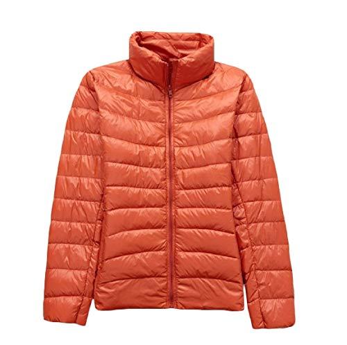 Giù Basamento Packable Cappotto Ultra Del Collare Leggero Il Plus Arancione size Mogogowomen 8q6Yaaw