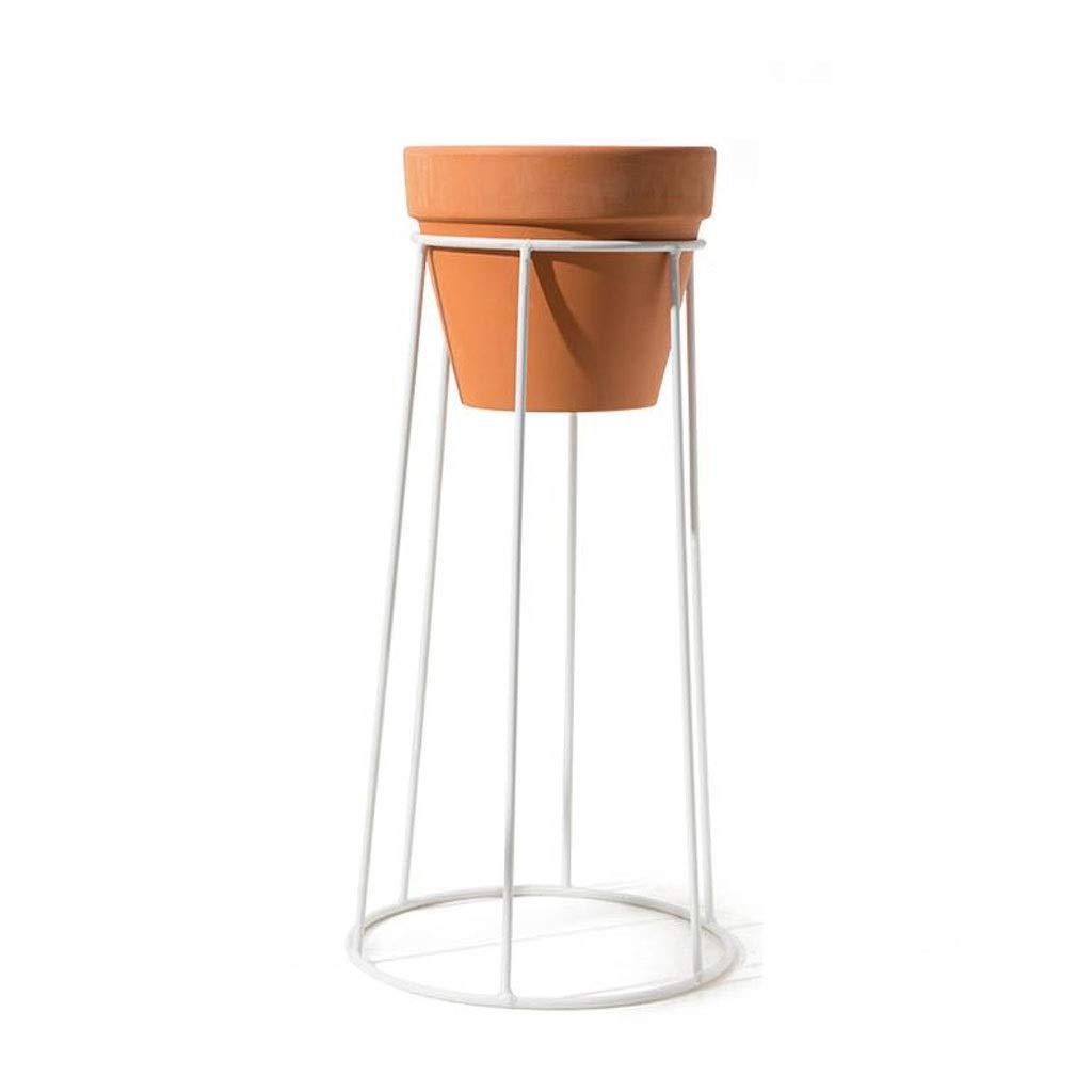 Gfbyq Vaso di Fiori in Ferro battuto Stand di Fiori Salotto Scrivania Pianta verde Pavimento per Fiori Vaso per Fiori in Ceramica (Dimensioni   20  15  40.5cm)