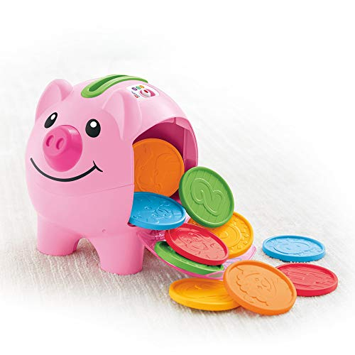 41ODOTwUciL - Fisher-Price Laugh & Learn Smart Stages Piggy Bank [Amazon Exclusive]