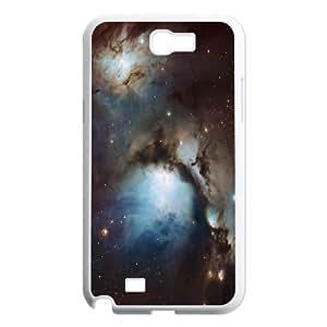 Samsung Galaxy Note 2 Case Blue Hole Nebula, [White]