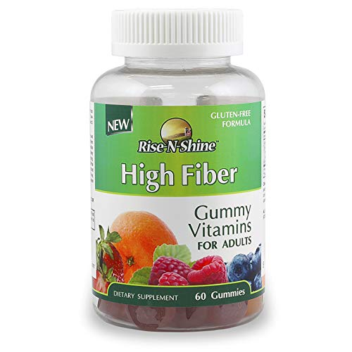 High Fiber Gummies Adult Gummy Vitamins for Men and Women 60 Count