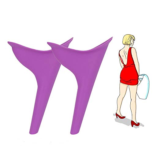 Female urination device lady urine silicone funnel women Outdoor Standing up Pee Reusable urinals portable camping travel toilet 2pcs