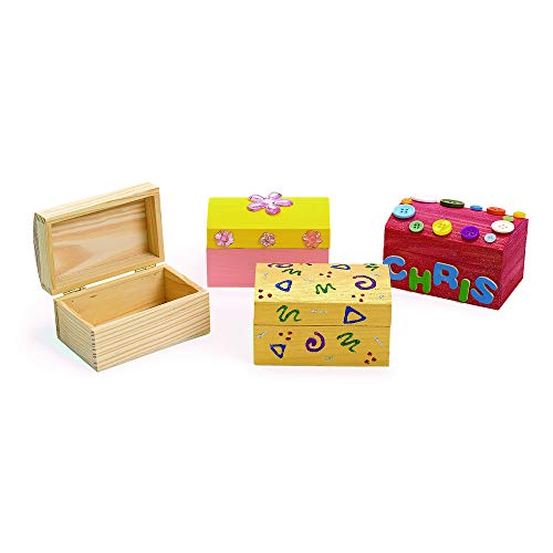 Colorations LOKBOX Wooden Treasure Boxes (Pack of ()