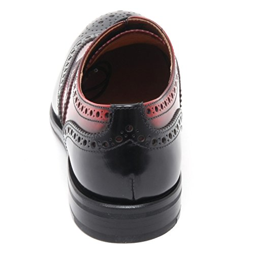 woman CHURCH'S B6134 Nero BURWOOD donna Rosso scarpe rosso scarpa nero inglese shoe axq7qwTz