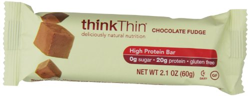 ThinkThin Protein Bar, Gluten Free Chocolate Fudge, 10 Count -