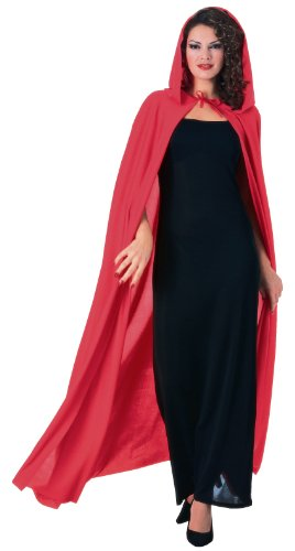 Rubie's Costume Full Length Hooded Cape Costume, Red, One (Full Length Hooded Cape)