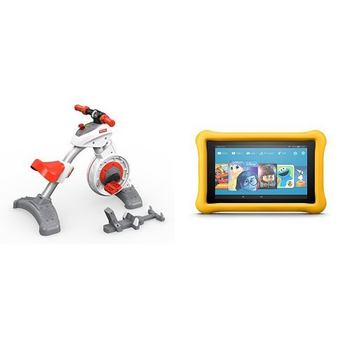 Fisher Price Think & Learn Smart Cycle and All-New Fire 7 Kids Edition Tablet, Yellow Kid-Proof Case