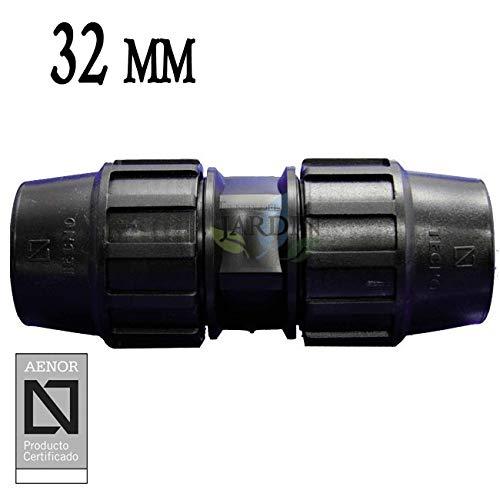riego y obras. Producto con certificado AENOR utilizado en tuber/ías PE 32 mm para uso fontaner/ía MANGUITO ENLACE POLIETILENO 32MM