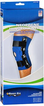Sport Aid Neoprene Hinged Knee Brace Large - 1 ea., Pack of 5
