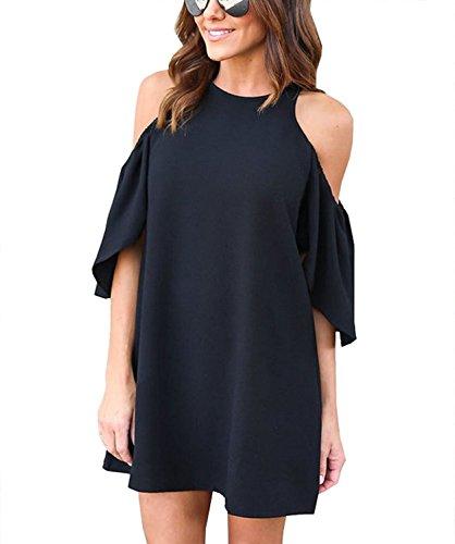 ファッション 女性 夏 ゆったり ベアトップ シフォン スカート 綺麗 純粋色 ミニ ワンピース 黒 白 ワインレッド 青