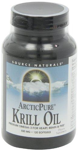 Source Krill Oil Omega-3 for Heart, Brain, PMS, 120