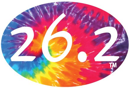26.2 Tie-dyed Oval Decal(blue)