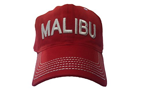 Malibu Distressed Vintage Beach Hat - Beach Wear - Surf Cap - Surf Hat - Trucker Hat - Baseball Cap - Great Shade Visor, Sun Hat, Fedora, Straw Hat - Warm like Slouchy Beanie - Ski Cap-Old Vintage Design Popular in 1950s. (Arc Ski)