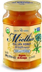 Rigoni Di Asiago Meilbio Italian Raw and Creamy Honey, Wildflower, 10.58 Ounce Creamy Asiago