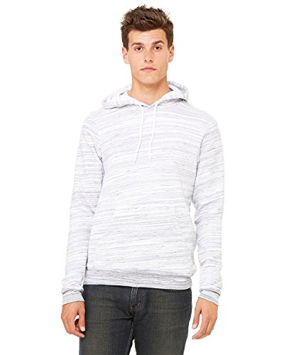 Hooded Pullover Bella (Bella Canvas Unisex Poly-Cotton Fleece Pullover Hoodie - LT GREY MARBLE - 2XL)