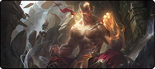 League of Legends Large Gaming Mouse Pad & Computer Mouse Mat, Ideal for Desk Cover, Computer Keyboard, PC and Laptop - Cartoon Style (Lee sin) (Best Mouse Sensitivity For League Of Legends)