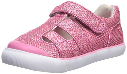 Stride Rite baby-girls Hadley Sneaker, PINK SPARKLE 7 M US Toddler
