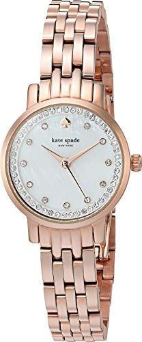 Links Gold Crystal Color Watch (kate spade new york Women's 'Mini Monterey' Quartz Stainless Steel Casual Watch, Color:Rose Gold-Toned (Model: KSW1243))