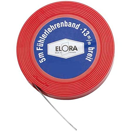 Elora 197000154000 Feeler Gauge Tape, Multi-Colour, 0.15 mm