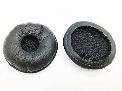 (Leatherette Ear Pads 87229-01 by AvimaBasics | Compatible with Plantronics Supra SupraPlus W740 W745 W440 W445 HW251 CS540 BlueParrott B250-XT XTS VXI - Premium Quality Cushions Earpads - 2pcs )