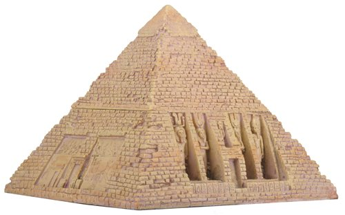 Egyptian Sandstone Pyramid Box Collectible Egypt Decoration (Cartouche Box)