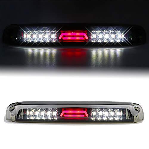 Youxmoto High Mount Stop Light LED 3rd Brake Light Tail Lamp for 99-06 Chevrolet Silverado/GMC Sierra 1500-3500, 01-06 Chevrolet Silverado/GMC Sierra 1500-3500 HD Smoke Lens
