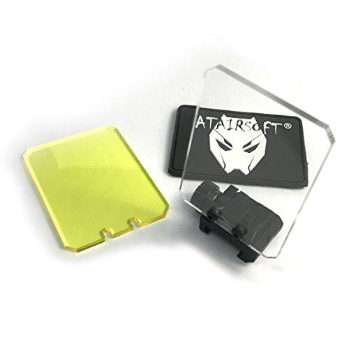 ATAIRSOFT Airsoft Dot Sight Reflex Scope Square Shape Screen Protector 20mm QD Mount BK