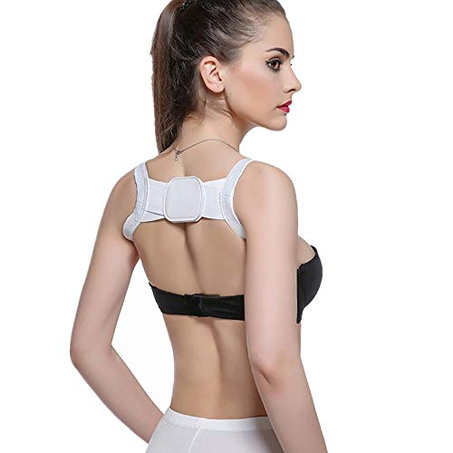 Usstore  Women Girls Orthosis Useful Body Hunchback Correction Sitting Posture Support Shoulders Chest Belt Corrector (one Size, - Gathered Silk Tank