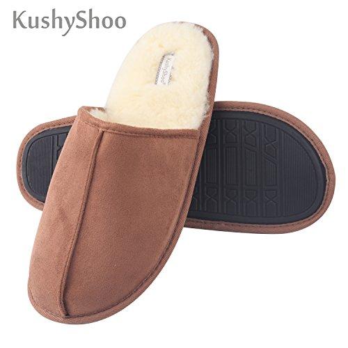 KushyShoo Men's Slip-On Indoor Outdoor Scuff Fluff Slippers by KushyShoo (Image #7)