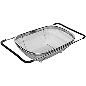 Amazon Com Fcoson Adjustable Rectangle Colander Stainless