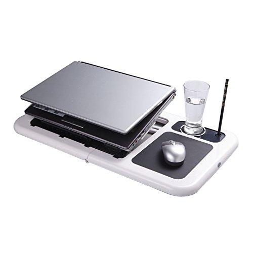 Flexzion Folding Laptop Desk Adjustable Usb Notebook Pc