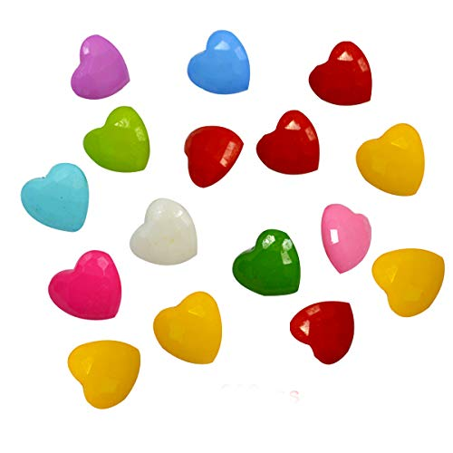 200 PCS Nylon Cute Peach Heart Shape Children Sweater Buttons For Sewing Fasteners Scrapbooking DIY Handmade Craft With Different - Heart Childrens Polished