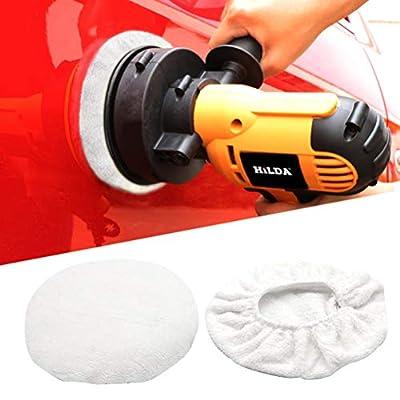AUTDER Car Polisher Pad Bonnet - Cotton Polishing Bonnet Buffing Pad Cover - for 5