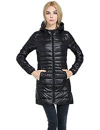 Women's Plus Size Lightweight Packable Hooded Long Down Outwear Jacket